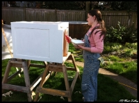 Laurel Painting what will become trash cabinet