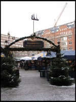 One of the things we miss most about Germany are the yearly Christmas markets.  This one is at Gansemarkt in Hamburg