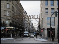 Neuerwall Strasse - where all the serious shops are in Hamburg: Gucci, Prada, etc...