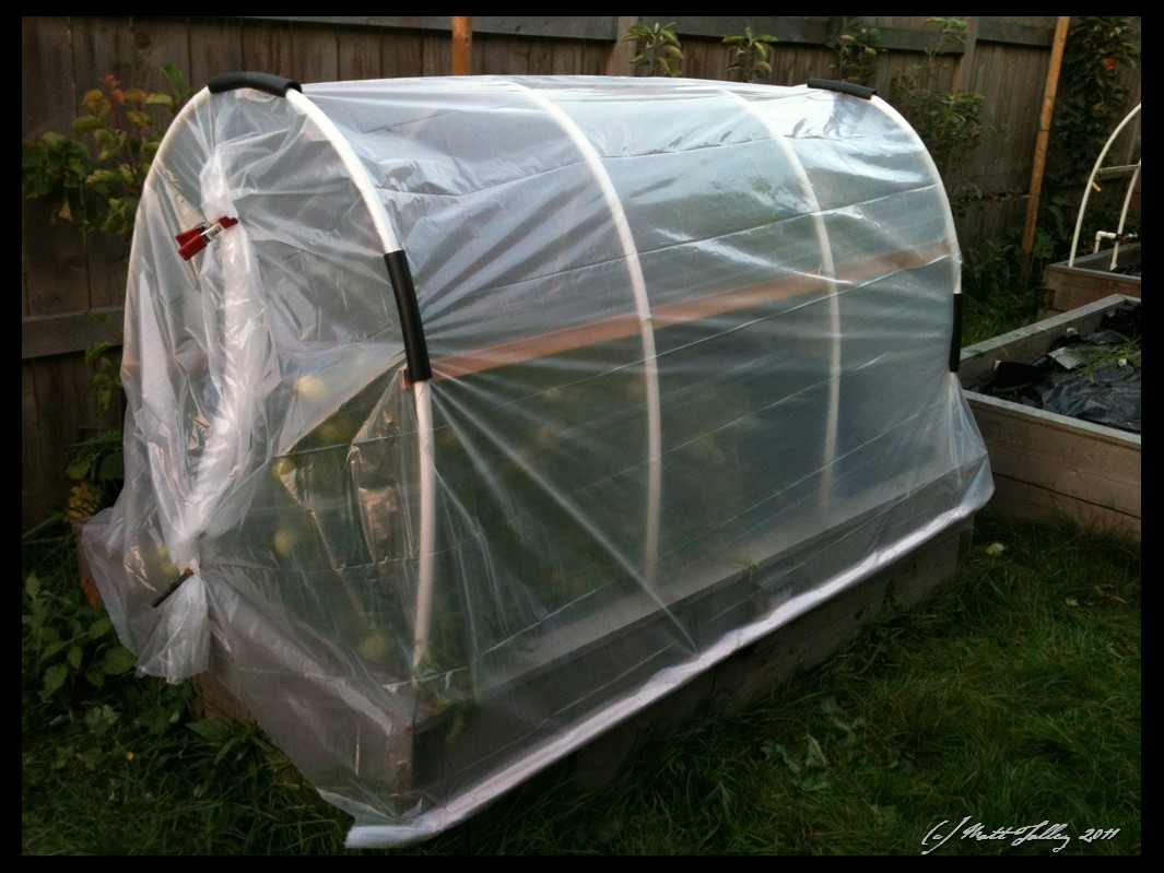 hothouse with plastic on