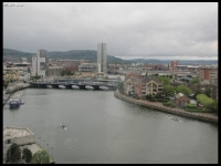 the Lagan River and view from my hotel room