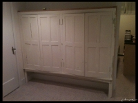 Painted Hutch in Basement