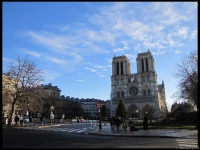 Wide shot of Notre-Dame