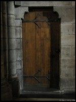 One of the side doors inside the Cathedral