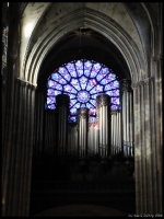 The Rose window over the pipe organ