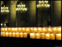 I really like this shot of the offertory candles