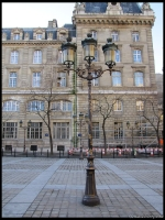 an Art Nouveau lamp post