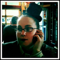 Laurel's great new hat she bought at Steamcon 2010