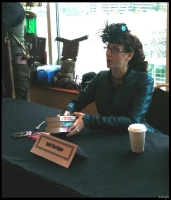 Gail Carriger signing books