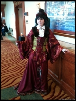 This outfit ROCKED.  A Combo of Japanese and English Victorian.
