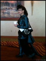 The  author Gail Carriger - 90% of the reason that we came to Steamcon.