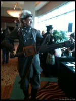 Steampunk Vulcan gunner - great hair.