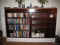 There are so many books in our home that we couldnt wait for the project to finish before we started filling the thing.
