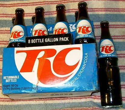 rc colain glass bottles