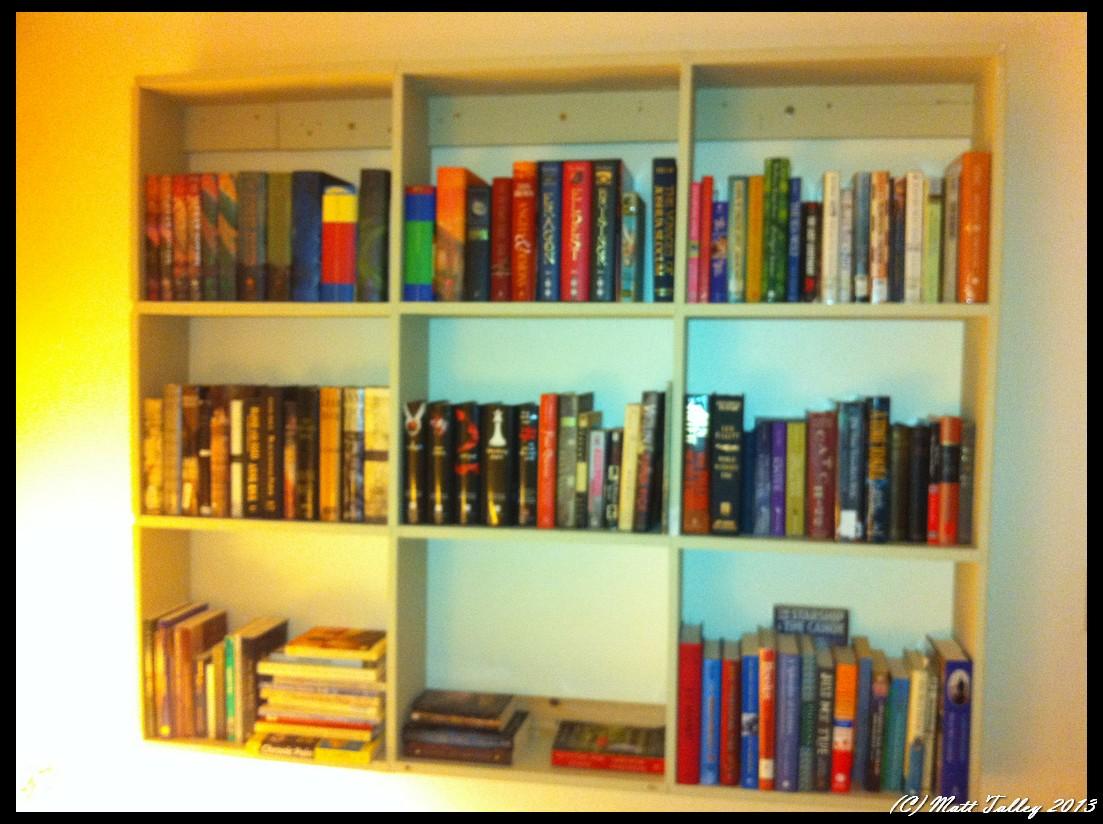 bookshelf driven outside. Black Bedroom Furniture Sets. Home Design Ideas