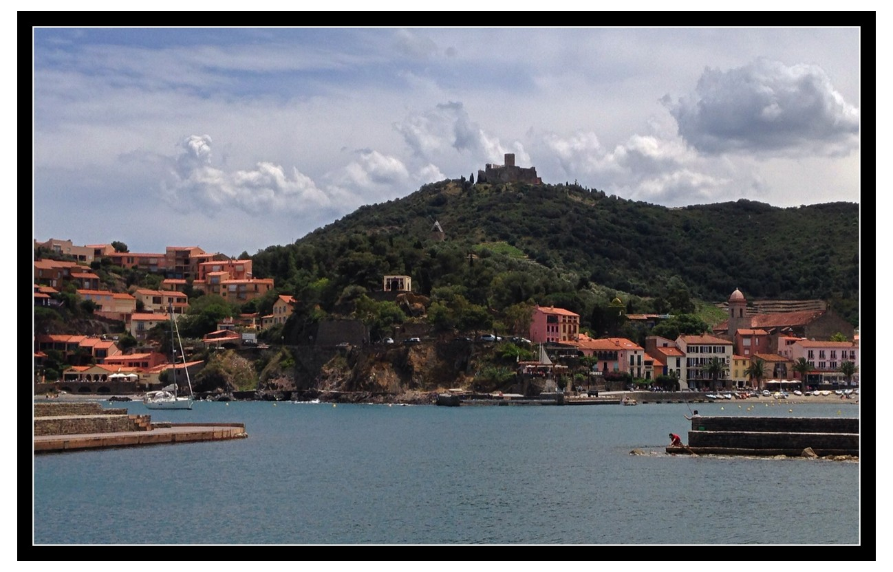 road trip to the beach in collioure france driven outside. Black Bedroom Furniture Sets. Home Design Ideas