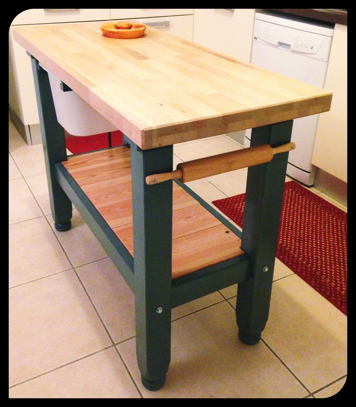 chopping block kitchen island ikea hack driven outside